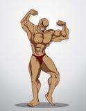 De Illustratie van de bodybuildergeschiktheid Royalty-vrije Stock Foto