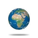 De illustratie van de bol met echte geografische gegevens Stock Afbeeldingen