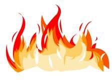 De illustratie van de brand Stock Foto's