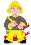 De illustratie van de brandweerman of van de brandbestrijder Royalty-vrije Stock Foto's