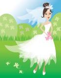 De illustratie van de bruid Royalty-vrije Illustratie