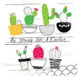 De illustratie van de cactustuin Royalty-vrije Stock Fotografie