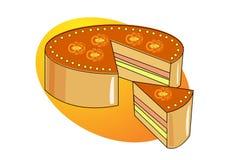 De illustratie van de cake Stock Fotografie
