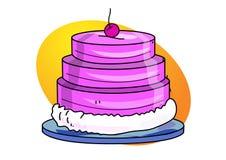 De illustratie van de cake Royalty-vrije Stock Afbeeldingen