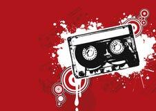 De illustratie van de cassette Stock Foto's