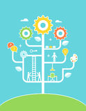 De Illustratie van de conceptenboom Onderwijs, Ontwikkeling, Royalty-vrije Stock Fotografie