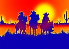 Cowboyillustratie stock foto