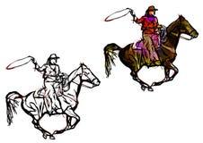 De illustratie van de cowboykleur Royalty-vrije Stock Foto