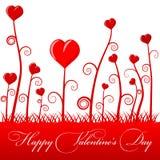De illustratie van de Dag van de gelukkige Valentijnskaart voor minnaars Stock Fotografie