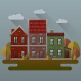 De illustratie van de de herfstscène Royalty-vrije Stock Afbeeldingen