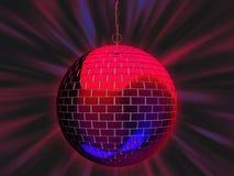De illustratie van de de spiegelbal van de disco Royalty-vrije Stock Foto's