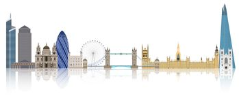 De illustratie van de de stadshorizon van Londen Royalty-vrije Stock Foto's