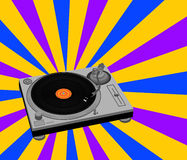 De Illustratie van de Draaischijf van DJ Stock Afbeelding