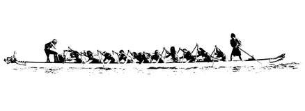 De illustratie van de draakboot Stock Foto
