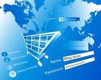 De illustratie van de elektronische handel Stock Fotografie