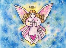 De Illustratie van de engel Stock Afbeeldingen