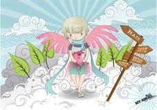 De illustratie van de engel Stock Foto