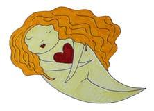 De Illustratie van de Escapist van de liefde stock illustratie