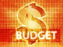 De illustratie van de Financiën van de begroting Royalty-vrije Stock Foto's