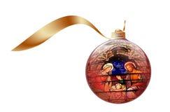 De Illustratie van de Foto van de voorraad van het Ornament van Kerstmis Stock Afbeelding