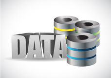 De illustratie van de gegevensserver Stock Fotografie