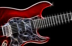 De illustratie van de gitaar Stock Afbeeldingen