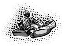 De Illustratie van de go-kartraceauto stock illustratie
