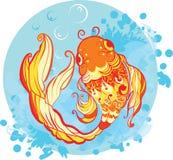 De illustratie van de goudvis Royalty-vrije Stock Foto