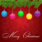 De illustratie van de Groet Card.Vector van Kerstmis. Stock Foto