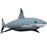 De illustratie van de haai Stock Foto