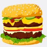 De Illustratie van de hamburger. Royalty-vrije Stock Fotografie