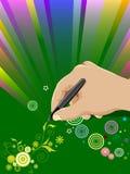 De illustratie van de hand vector illustratie