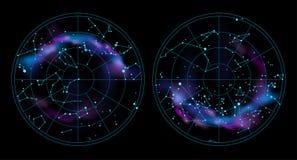 De illustratie van de hemelkaart royalty-vrije illustratie