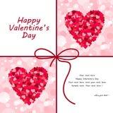 De illustratie van de het hartkaart van de valentijnskaart Royalty-vrije Stock Afbeelding