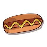 De illustratie van de hotdog. Vector Royalty-vrije Stock Afbeeldingen