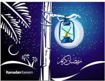 De Illustratie van de Kaart van de Groet van de Ramadan Stock Afbeeldingen