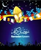De Illustratie van de Kaart van de Groet van de Ramadan Royalty-vrije Stock Fotografie