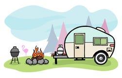De illustratie van de kampeerauto Royalty-vrije Stock Foto