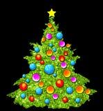 De Illustratie van de kerstboom Stock Foto