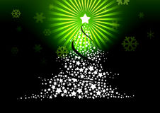 De illustratie van de kerstboom. Royalty-vrije Stock Afbeelding