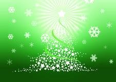 De illustratie van de kerstboom. Stock Fotografie