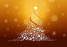 De illustratie van de kerstboom. Stock Foto's