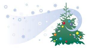 De illustratie van de kerstboom Royalty-vrije Stock Afbeelding