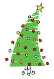 De Illustratie van de Kerstboom van het gekrabbel Stock Fotografie