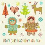 De illustratie van de kerstkaart Royalty-vrije Stock Foto