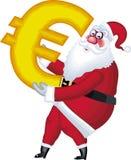 De illustratie van de Kerstman in divers stelt euro Stock Afbeeldingen