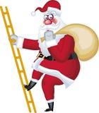 De illustratie van de Kerstman in divers stelt ladde Royalty-vrije Stock Afbeelding