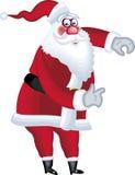 De illustratie van de Kerstman in divers stelt punt Stock Afbeelding
