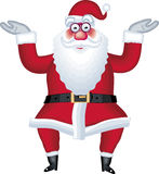 De illustratie van de Kerstman in divers stelt punt Stock Afbeeldingen