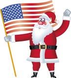 De illustratie van de Kerstman in divers stelt vlag Stock Foto's